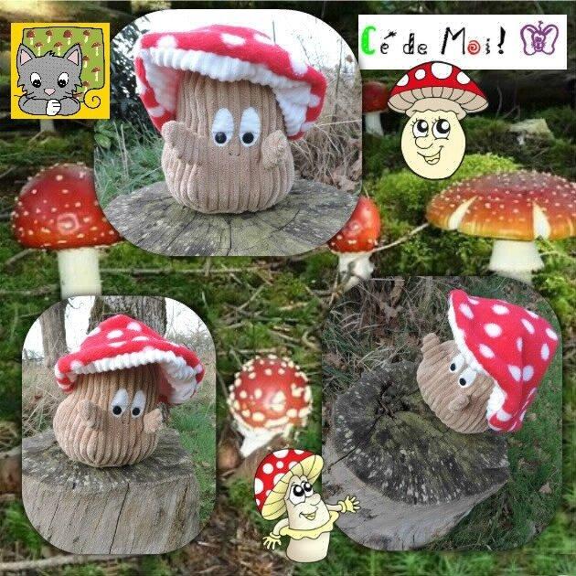 17-02-25 Trognon le champignon - BAC automne - défi Tout un monde de douceur un mois,une créa et +