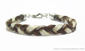 bracelet beige blanc simple