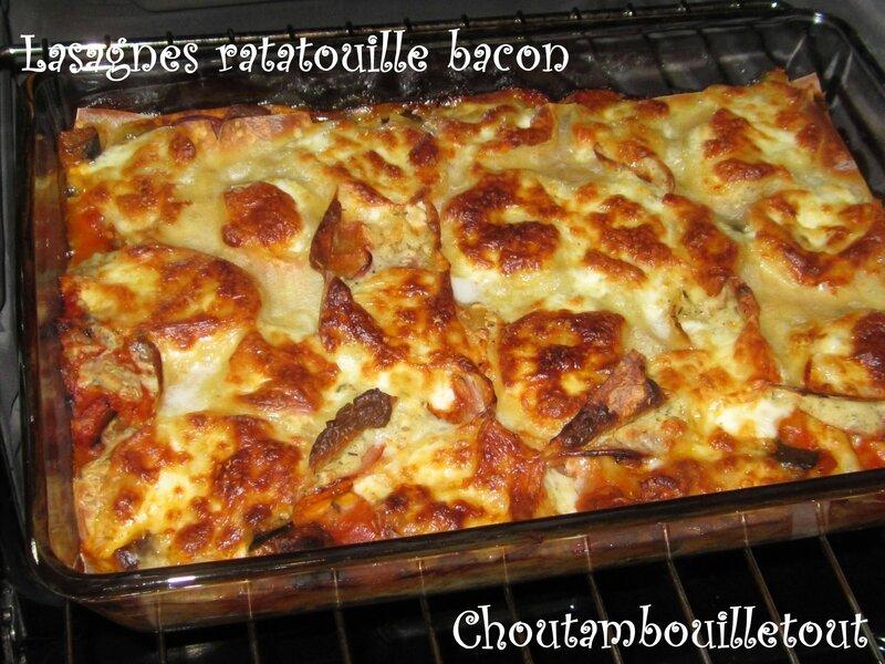lasagne ratatouille bacon