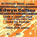 Edwyn collins - dimanche 5 novembre 1989 - town and country club (london)