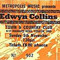 Edwyn collins - dimanche 5 novembre 1989 - town & country club (london)