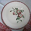 Assiette creuse epernay 23 cm de diamètre
