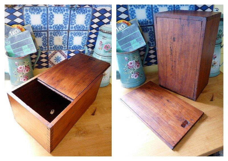 boite en bois avec couvercle coulissant marchandises de hasard. Black Bedroom Furniture Sets. Home Design Ideas