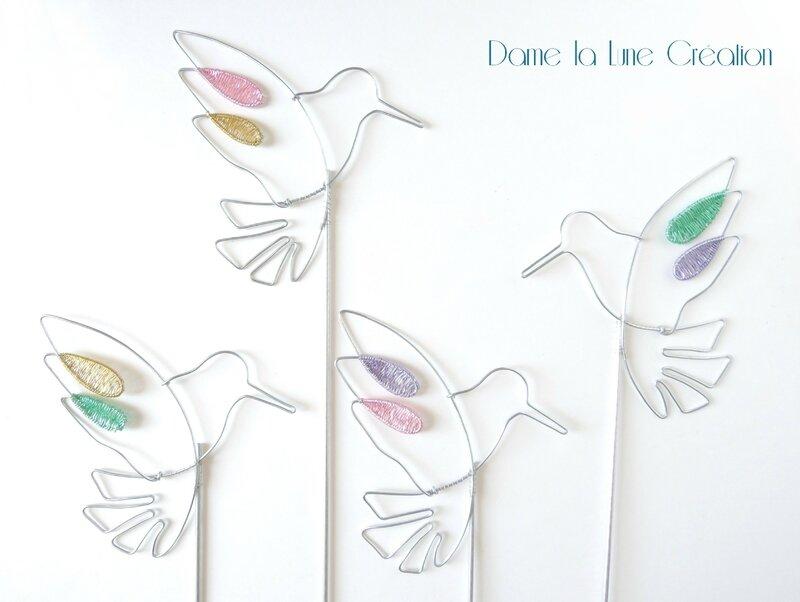 filde fer_pic à jardinière_ oiseaux_Dame la Lune_création-originale