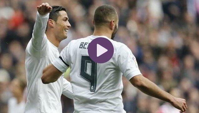 vidéo resume Real madrid Sporting Gijon but ronaldo