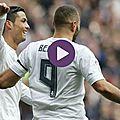 Résumé real madrid 2-0 sporting gijón vidéo but ronaldo - mi-temps