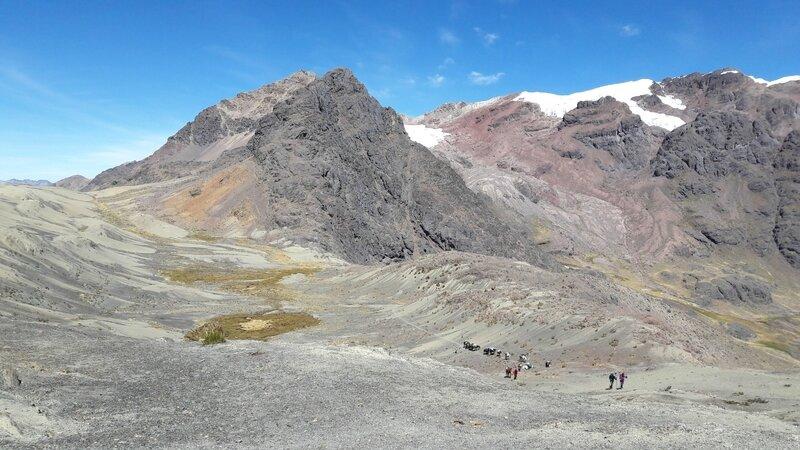 en arrière depuis le Col du Condor...