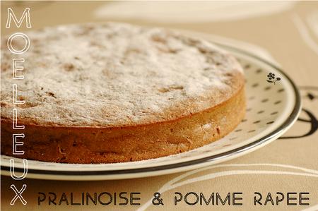 Gâteau moelleux et fondant Pralinoise & pomme râpée_1