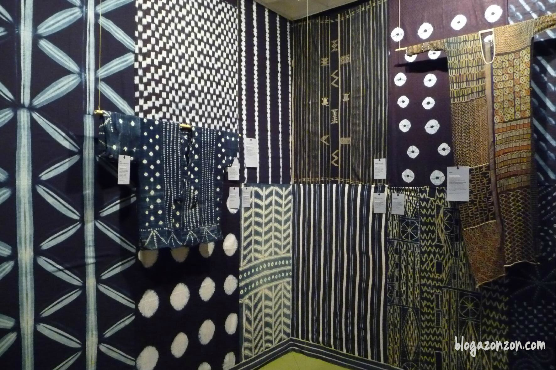 tissu africain indigo