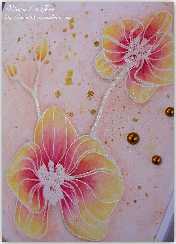 Carte Orchidée Grimpante aquarelle 3