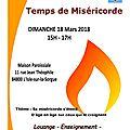 Temps de miséricorde dimanche 18 mars à 15h à la maison paroissiale