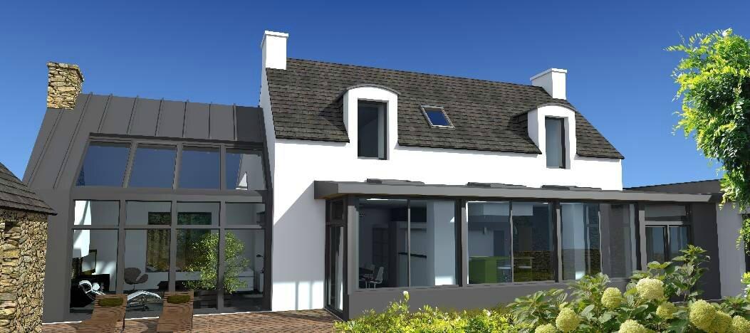 La decopelemele restructuration et r novation architecture el 39 le - Maison bretonne moderne ...