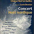 Concert nordique par le choeur de chambre de la cité - temple des batignolles - 18 et 19 décembre 2013