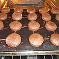 Muffin au chocolat coeur fondant de chocolat blanc