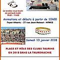 Nîmes - café toro -samedi 13 janvier