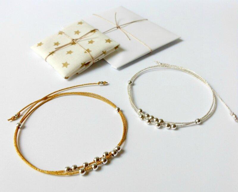 cadeaux bracelets de Noël