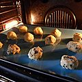 Cookies au chocolat noir et au chocolat blanc