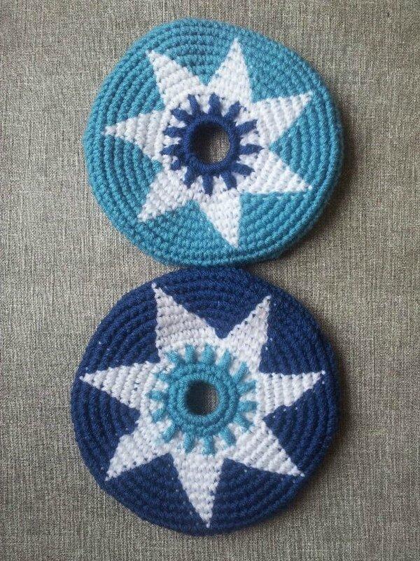 fleur blanche et bleu 3