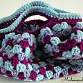 Mini sac boule violet 1