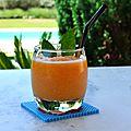 Granité melon-menthe, sous verre-perles àrepasser-Hama-été-La chouette bricole