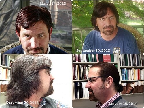 Homme cheveux long transition