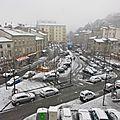 Première neige à saint-chamond, le mercredi 21 janvier 2015