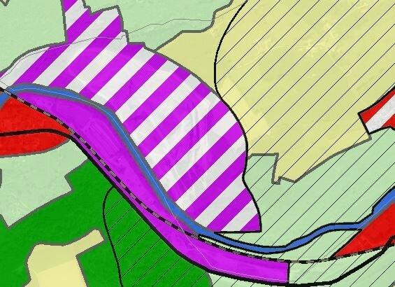 Carrière Longtraz - plan de secteur