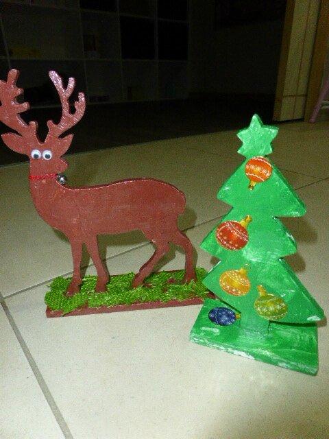 objet bois à peindre Noel