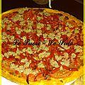 Tarte fine poivrons, tomates, thon et pesto rosso