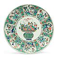 A famille verte charger, kangxi period (1662-1722)