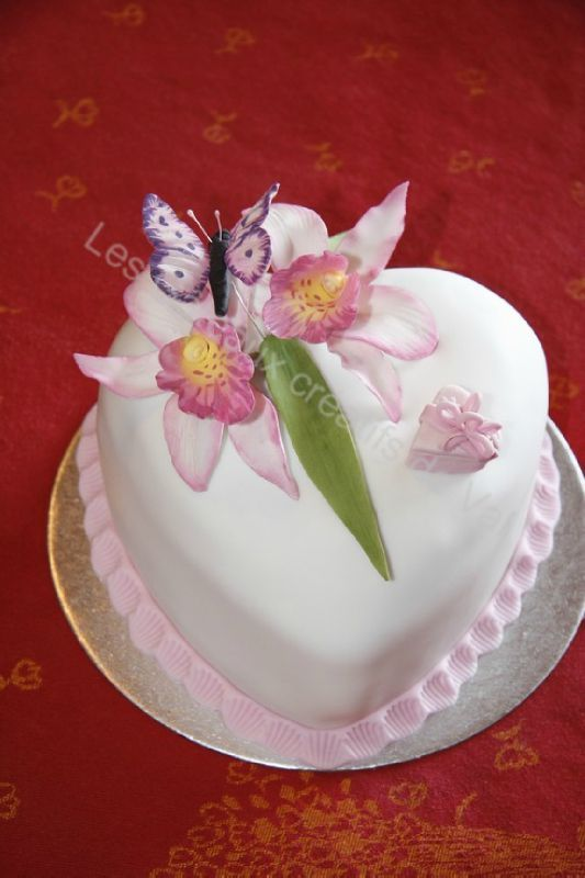 deco gateau orchidee