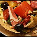 Salade aux saveurs italiennes - visuel très original qui fait son petit effet!