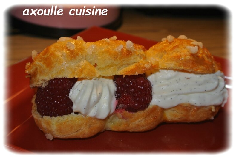 eclaire chantilly framboises 2