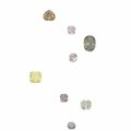 A collection of ten unmounted fancy coloured diamonds