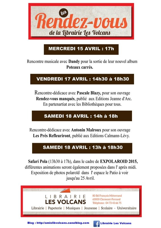 afficeh 15 au 18 avril