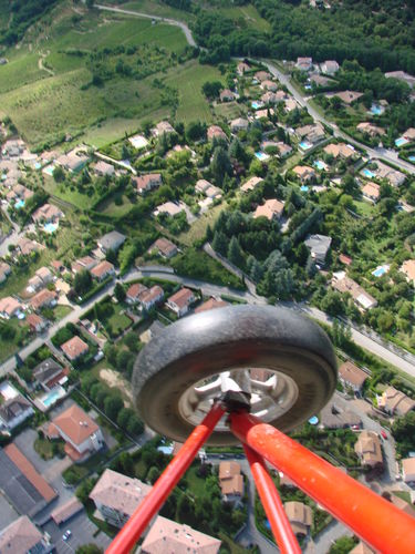 2008 07 07 Vu aérienne depuis l'ULM d'Etoile sur Rhône en direction de Crussol (30)