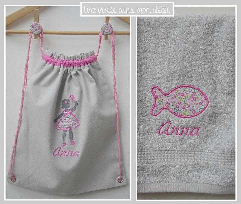 coffret-cadeau de naissance-sac à dos personnalisé-Liberty fairford rose