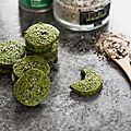 Sablés au thé matcha et fleur de sel