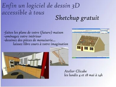 s 39 approprier le logiciel sketchup dessin en 3d le club. Black Bedroom Furniture Sets. Home Design Ideas
