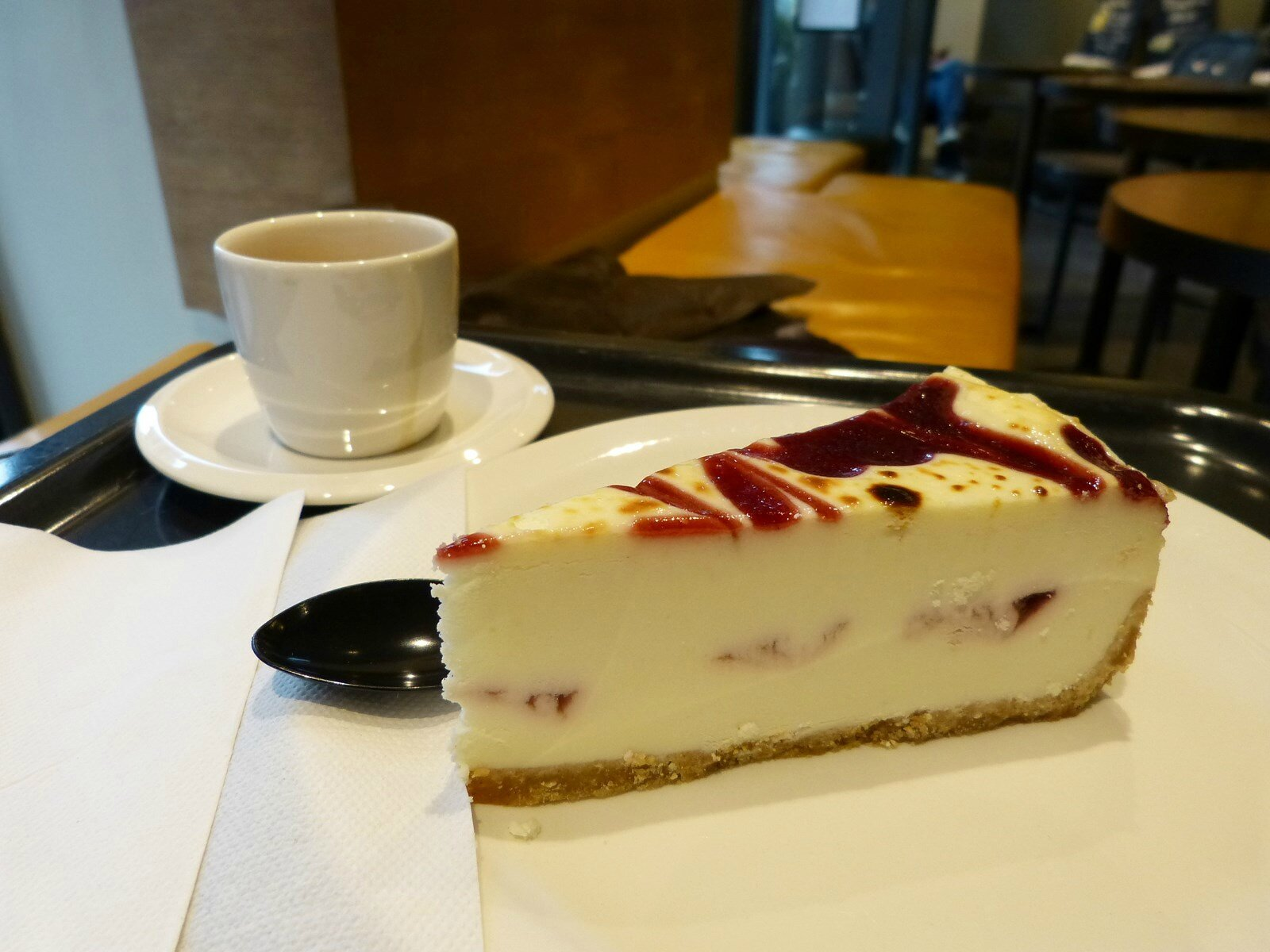 Paris, décembre 2013, cheesecake Starbucks Café ! Miam !