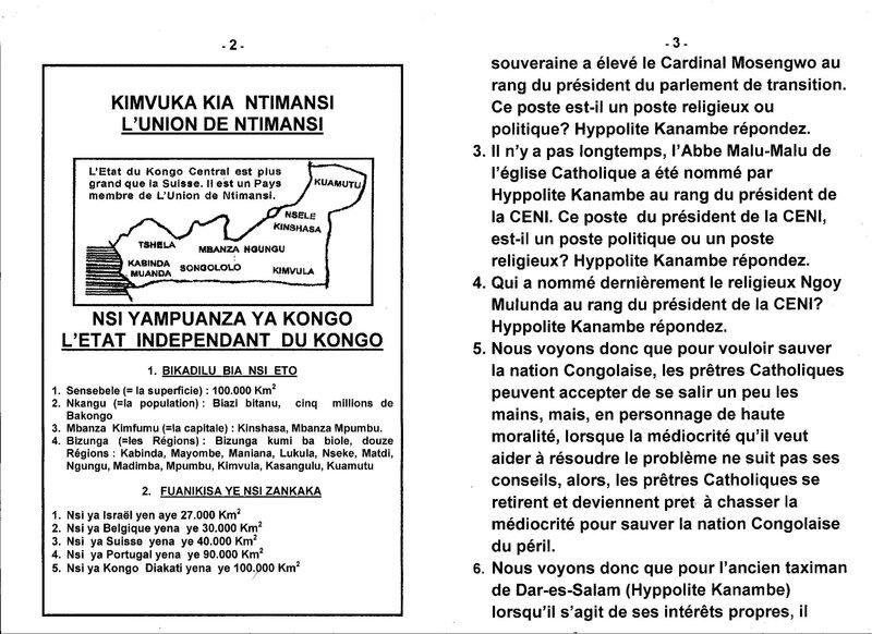 LE GRAND MAITRE DE LA SAGESSE KONGO POSE QUELQUES QUESTIONS A HYPPOLITE KANAMBE b