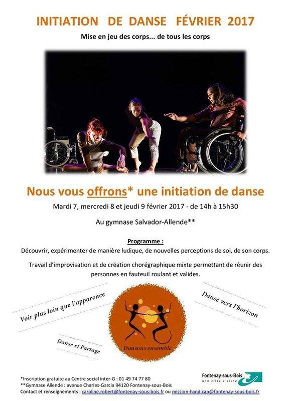 affiche invitation danse février