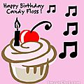 Happy birthday candy floss !!!