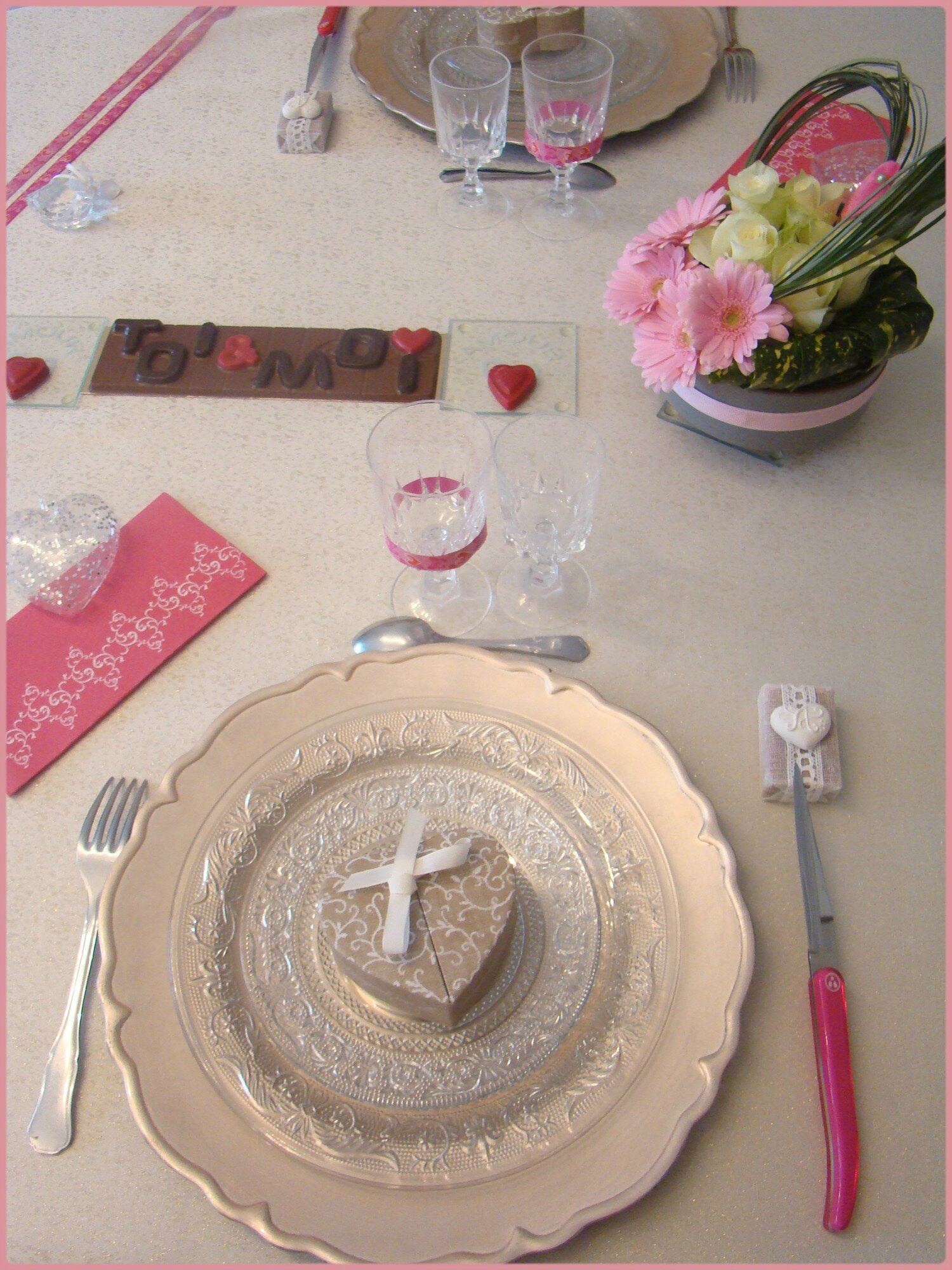 Table Saint Valentin pour table saint-valentin 2017 - miss gleni and co