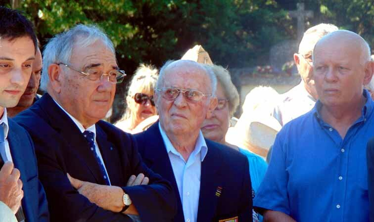 Monsieur Georges ARNAUD, cérémonie de Gordes, le 2 août 2015