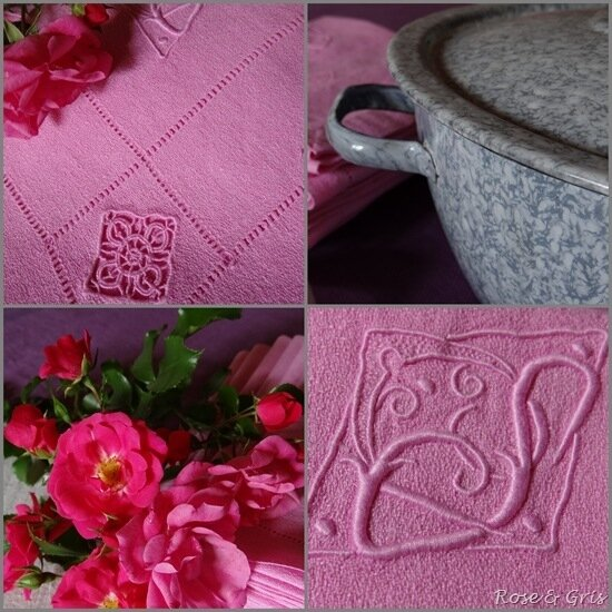 serviettes rose soutenu