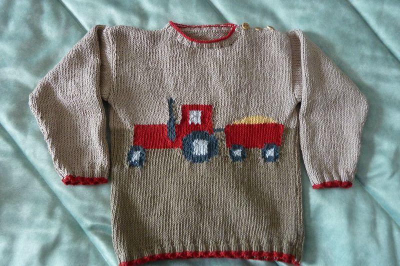 modele pull enfant a tricoter