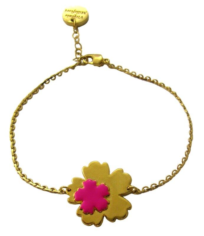 bracelet double fleur or