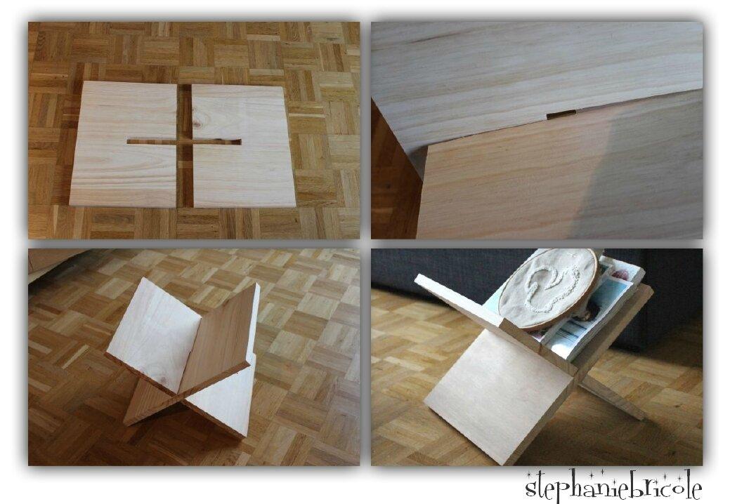 diy rapide et efficace un porte revue en bois st phanie bricole. Black Bedroom Furniture Sets. Home Design Ideas