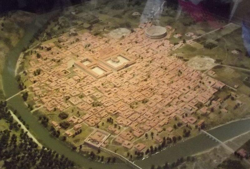 Maquette-plan de Vesunna